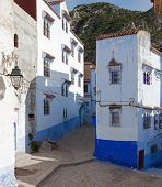 A piece of old architecture in the Medina , Chefchaouen, Morocco
