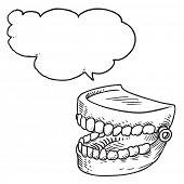 Artificial teeth speaking