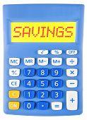 Calculator With Savings On Display
