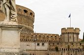Detail Of Castle St Angel In Rome