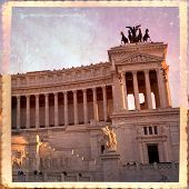 image of altar  - National monument to Vittorio Emanuele II (Victor Emmanuel II) or Altare della Patria (Altar of the Fatherland) Rome Italy
