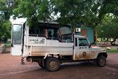 Parked Safari Jeep