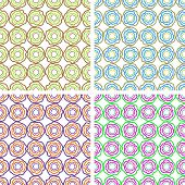 Set Of Backgrounds Colored Irregularly Circles
