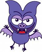 Purple bat in mischievous mood