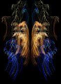 illustration of colorful sparkling lights