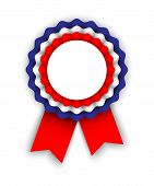 foto of rosettes  - rosette in colors of the tricolor on white background vector illustration eps 10 with gradient mesh and transparency - JPG
