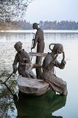 Chinese Outdoor Sculpture, West Lake, Hangzhou