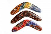 picture of boomerang  - Australian Boomerang with beautiful design - JPG