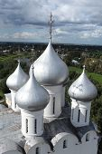 Church domes top view