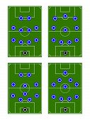 Soccer Team Formations Circles