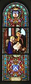 foto of stained glass  - Nativity scene - JPG
