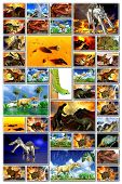 stock photo of doomsday  - Doomsday in the world of dinosaurs - JPG