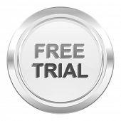 free trial metallic icon