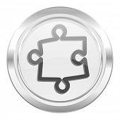 puzzle metallic icon