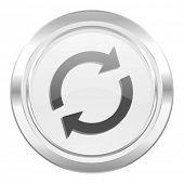 reload metallic icon refresh sign