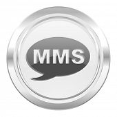 mms metallic icon message sign