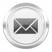 email metallic icon post sign