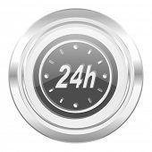24h metallic icon