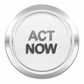 act now metallic icon