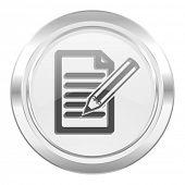 subscribe metallic icon write sign