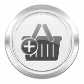 cart metallic icon shopping cart symbol