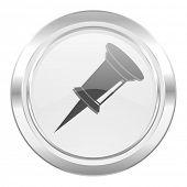 pin metallic icon