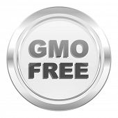 gmo free metallic icon no gmo sign