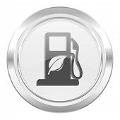 biofuel metallic icon bio fuel sign