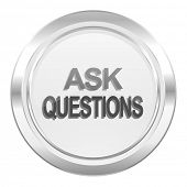 ask questions metallic icon