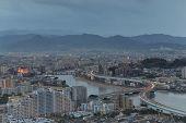 Fukuoka, Japan Cityscape And Office Buildings
