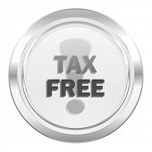 tax free metallic icon