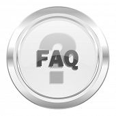 faq metallic icon