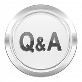 question answer metallic icon