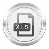 xls file metallic icon