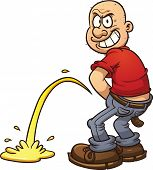 pic of peeing  - Mischievous bald man peeing - JPG