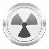 radiation metallic icon atom sign