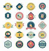 Shopping Badge Banner Flat Design Background Set,