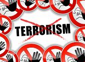 No Terrorism Concept Background