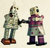 two romantic robots