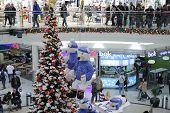 Brno,czech Republic-december 14,2014:christmas Decorations At  Shopping Centre Gallery Vankovka