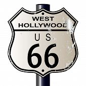 West Hollywood Route 66 Sign