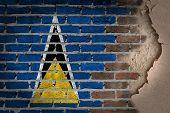 Dark Brick Wall With Plaster - Saint Lucia