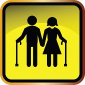 picture of crippled  - Illustration of family icons set on yellow - JPG