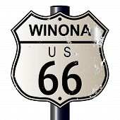 Winona Route 66 Sign