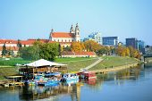 Vilnius City Ship Restaurant In The Neris River
