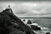 picture of landforms  - New Zealand Nugget Point  - JPG