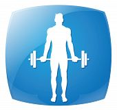 Man People Athletic Gym Gymnasium Body Building Exercise