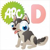 D is for vector isolated cute Dog