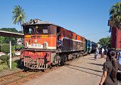 Railway Train In Yangon, Myanmar