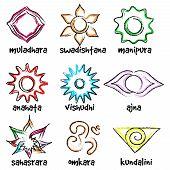 set of chakras symbols